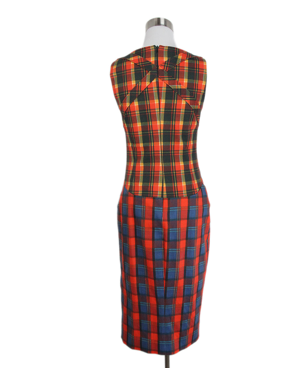 Altuzarra Orange Plaid Dress 3