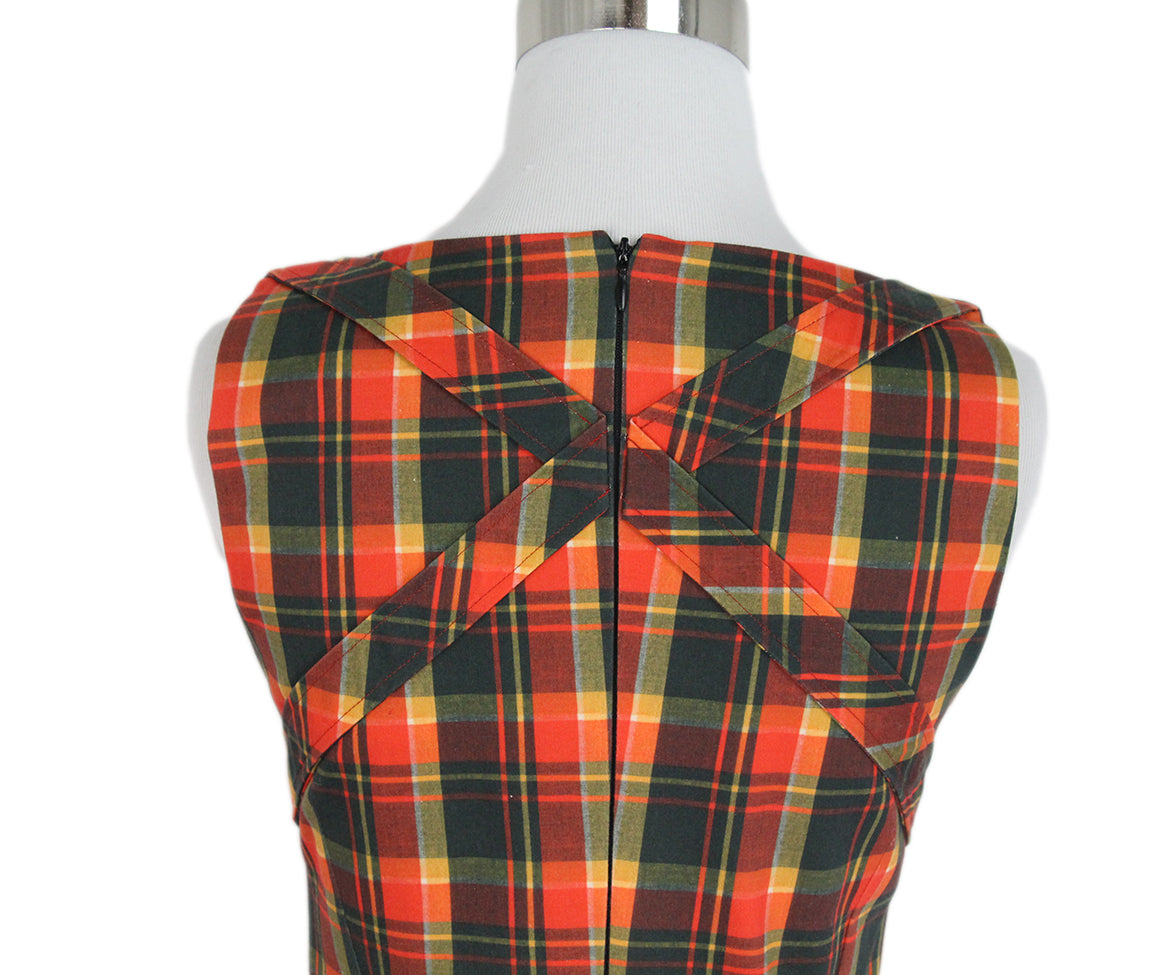 Altuzarra Orange Plaid Dress 5