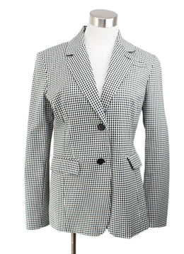 Altuzarra Black White Check Cotton Jacket 1