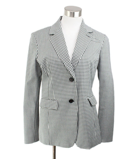Lanvin Taupe Cotton Silk Polka Dot Detail Cardigan  Size 8