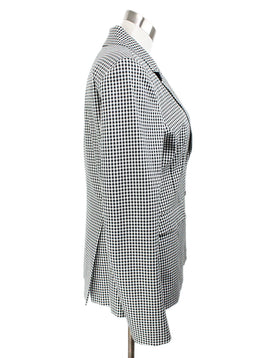 Altuzarra Black White Check Cotton Jacket 2