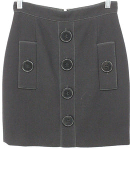 Andrew GN Black Skirt with Button Detail 1