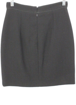 Andrew GN Black Skirt with Button Detail 2
