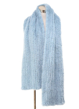 Blue Fur Scarf 1