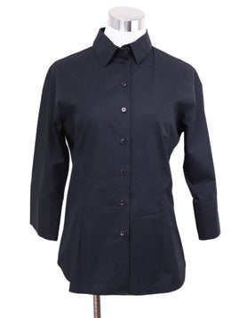 Shirt Anne Fontaine Black Cotton Top 1