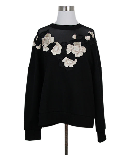 Anne Fontaine Black Floral Appliques sweater 1
