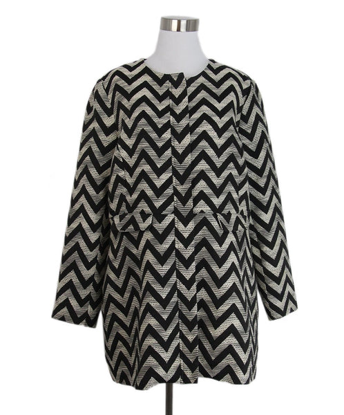 Anne Fontaine Black ivory chevron Jacket 1