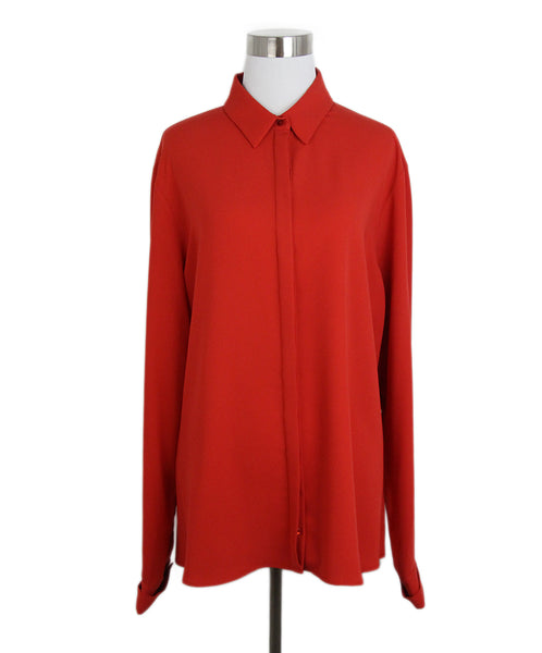 Anne Fontaine Red Silk Blouse 1