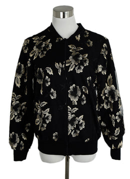Anne Fontaine Black and Gold Mesh Embroidered Jacket sz. 4 | Anne Fontaine