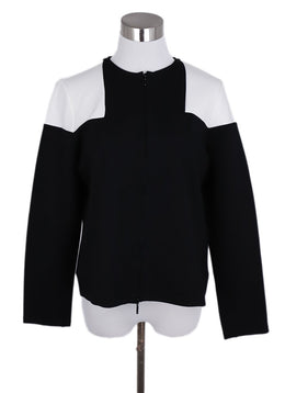 Anne Fontaine Black White Cotton Jacket 1