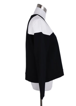 Anne Fontaine Black White Cotton Jacket 2