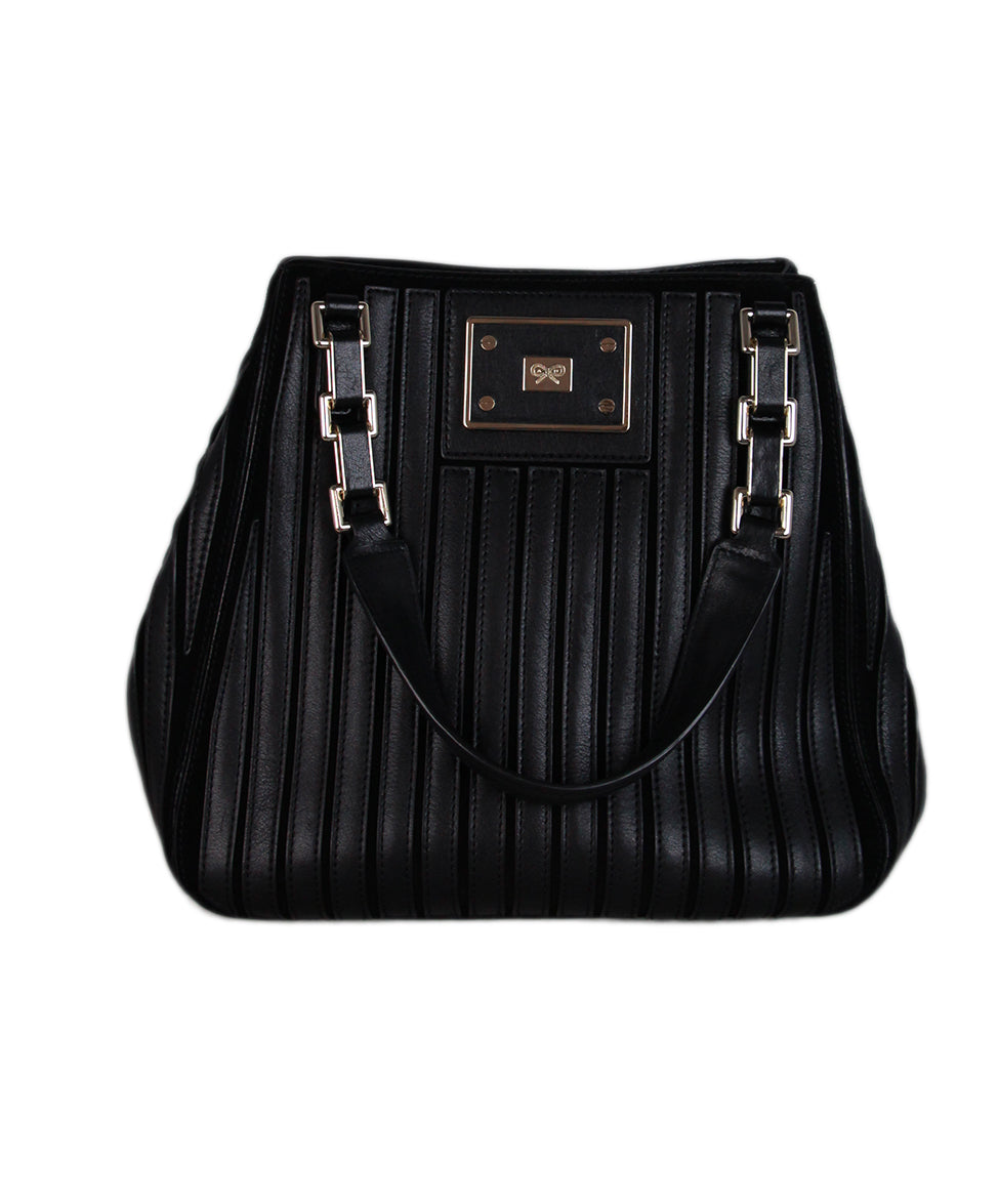 Anya Hindmarch Black Leather Tote 1