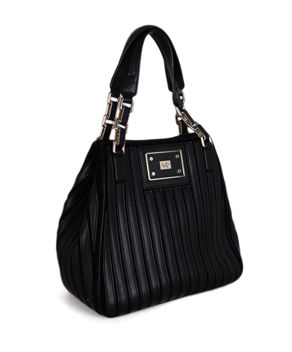 Anya Hindmarch Black Leather Tote 2