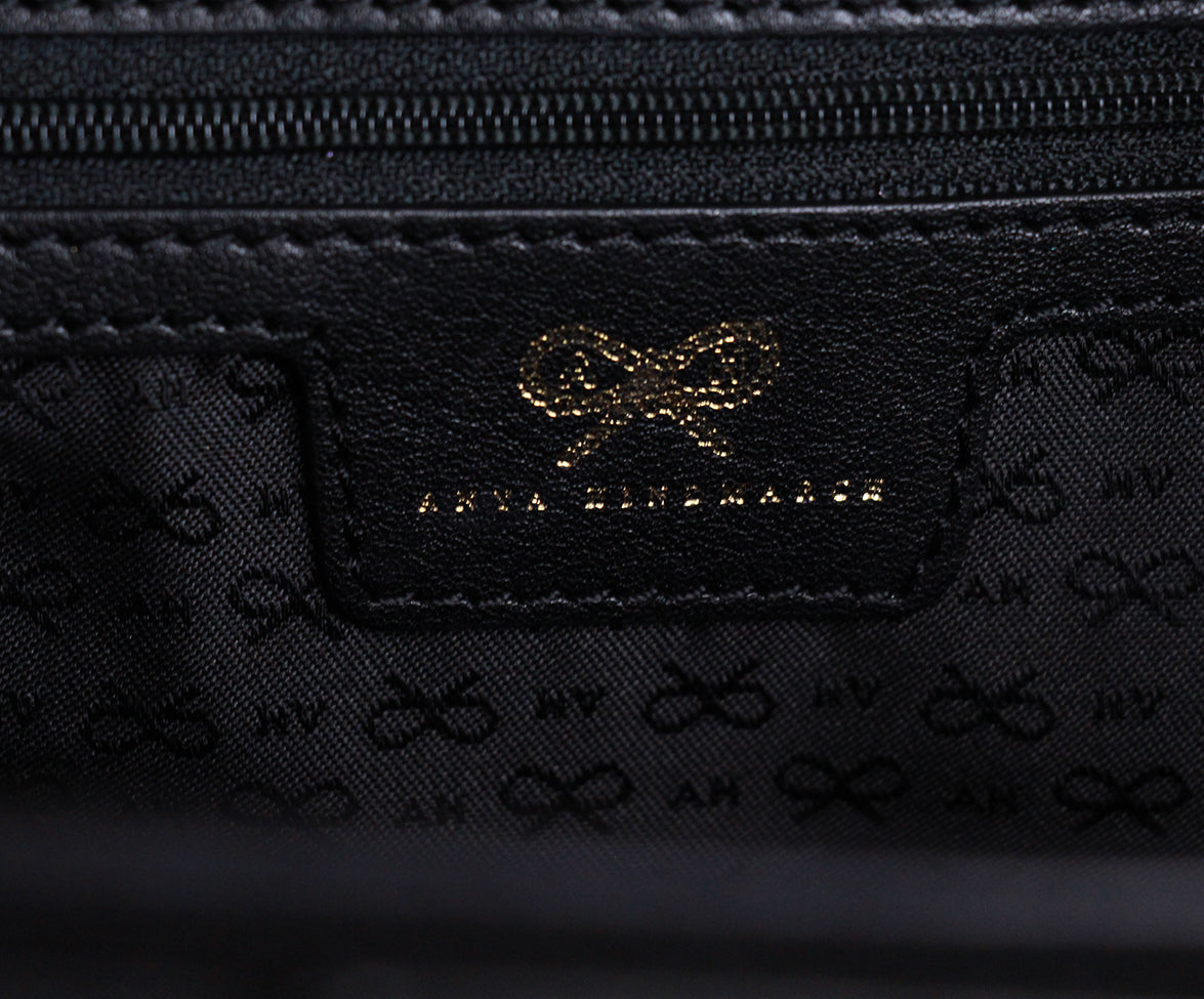 Anya Hindmarch Black Leather Tote 6