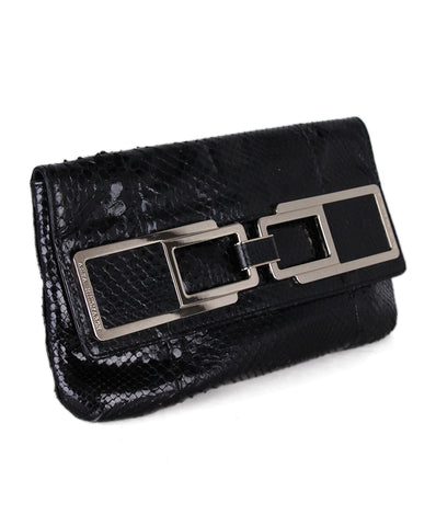 Anya Hindmarch Black Lizard Clutch 1