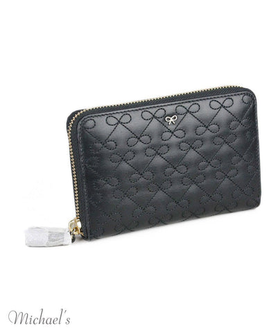 Anya Hindmarch Black Leather Wallet