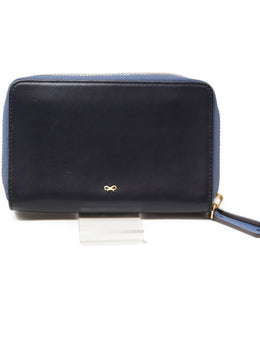 Anya Hindmarch Light Blue Navy Leather Wallet 1