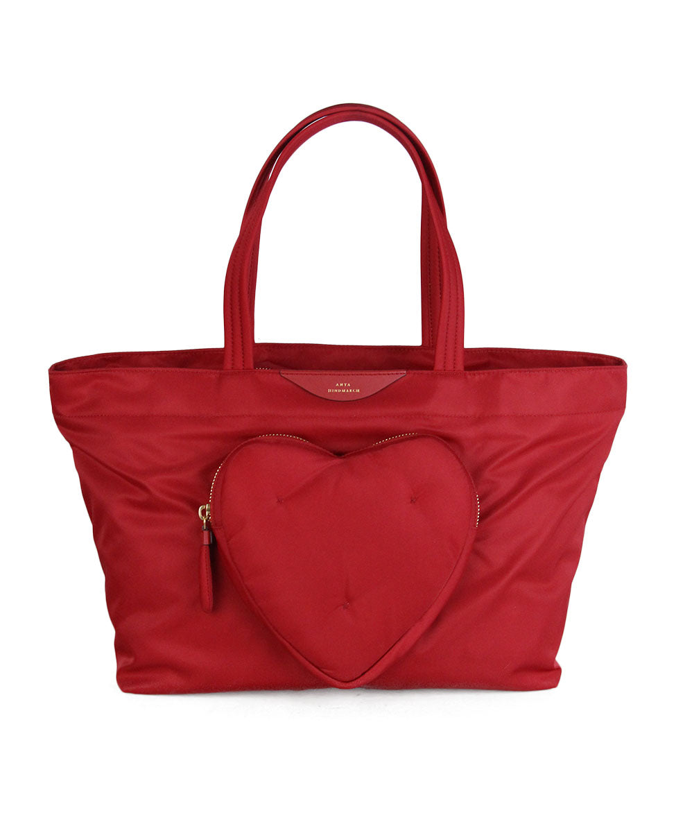 Anya Hindmarch Red Nylon Tote 1