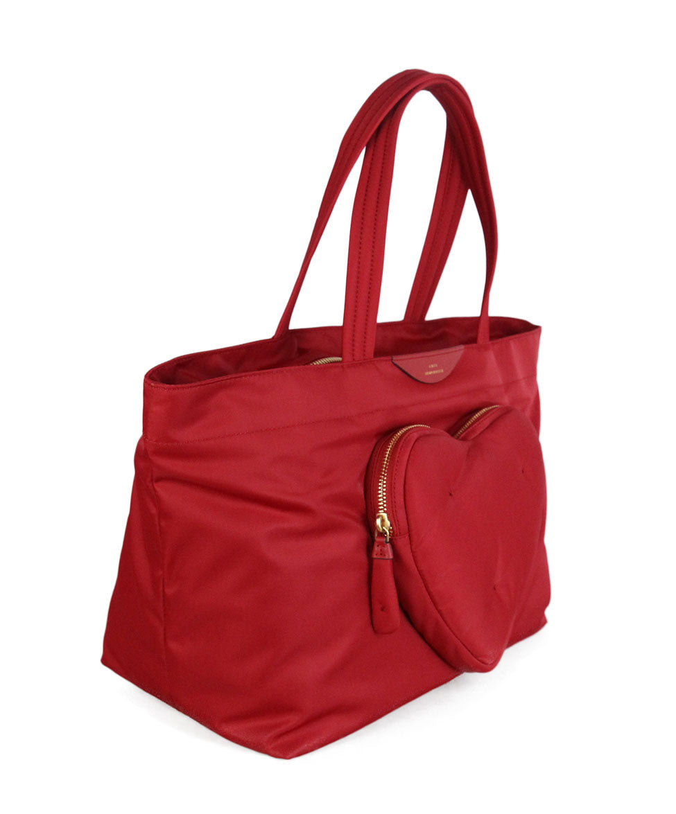 Anya Hindmarch Red Nylon Tote 2