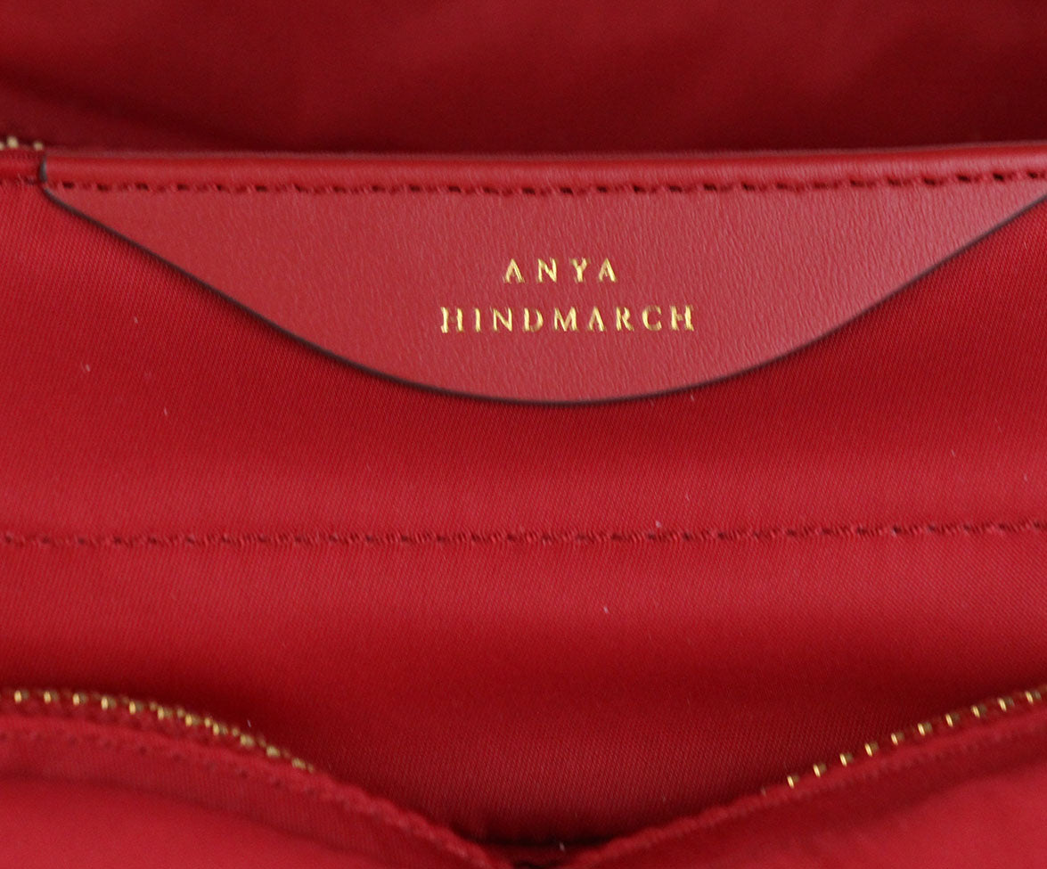 Anya Hindmarch Red Nylon Tote 8