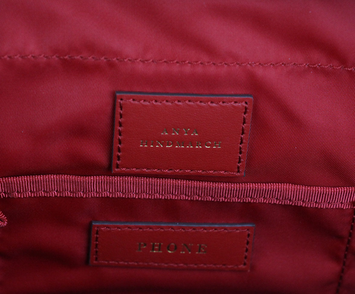 Anya Hindmarch Red Nylon Tote 7