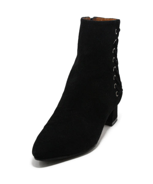 Aquatalia Black Suede Booties 1