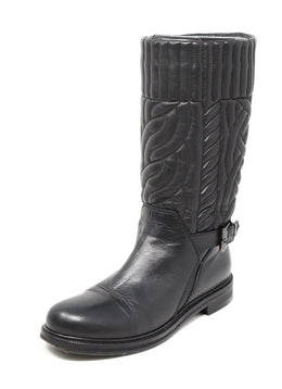 Aquatalia Black Quilted Leather Boots