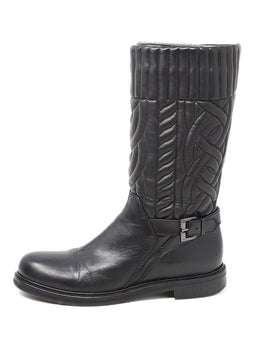 Aquatalia Black Quilted Leather Boots 1