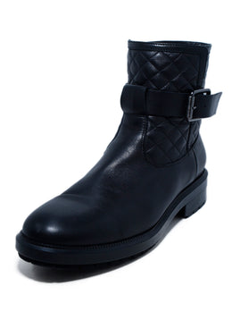 Aquatalia US 12 Black Leather Booties 1