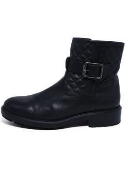 Aquatalia US 12 Black Leather Booties 2