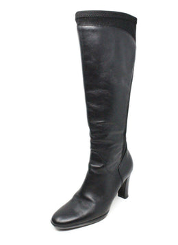 Aquatalia Black Leather Elastic Boots 1