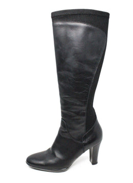 Aquatalia Black Leather Elastic Boots 2