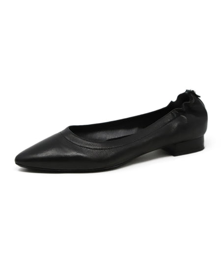 Christian Dior Black Lilac Cut Leather Flats Sz. 38