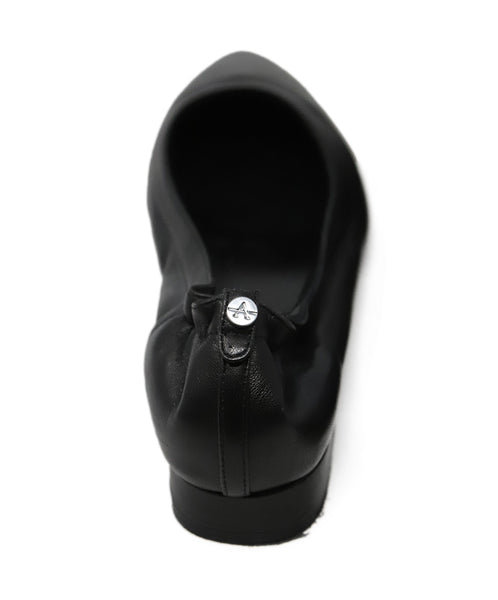 Aquatalia Black Leather Flats 3