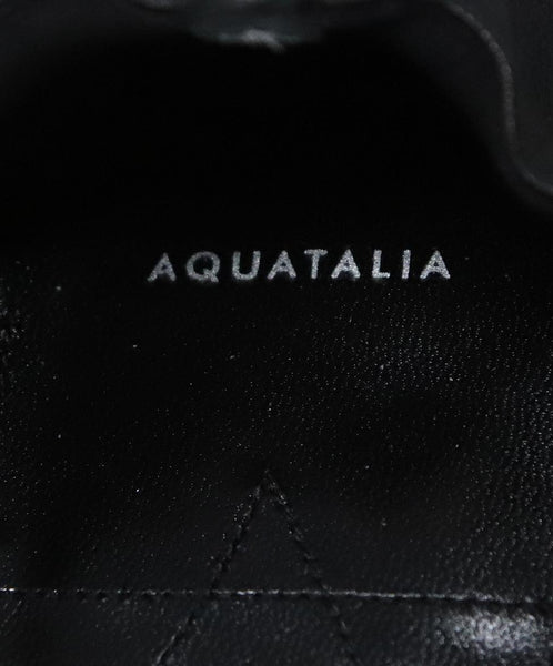 Aquatalia Black Leather Flats 6