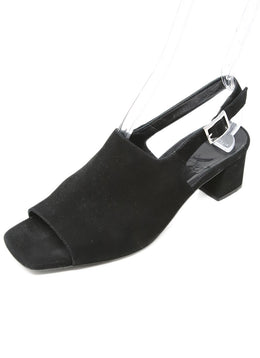 Aquatalia Black Suede Sandals 1