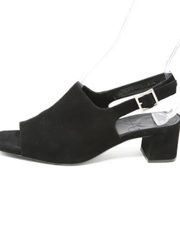 Aquatalia Black Suede Sandals 2