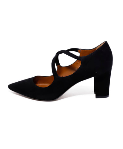 Aquatalia Black Suede Criss Cross Mary Jane Heels 1