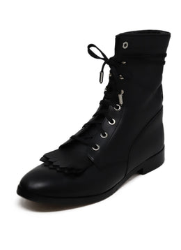 Aquazzura Black Leather Boots
