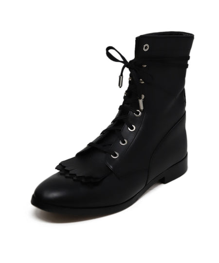 Chloe Black Leather Lace up detail boots US 7.5