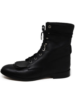 Aquazzura Black Leather Boots 1