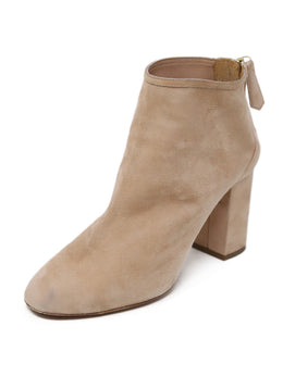 Aquazzura Neutral Suede Nude Booties