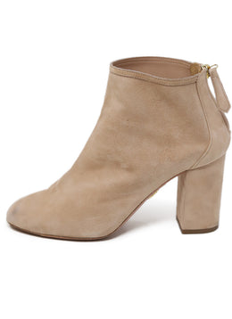 Aquazzura Neutral Suede Nude Booties 1