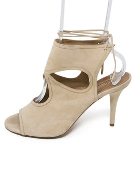 Aquazzura Tan Suede Sandals 2