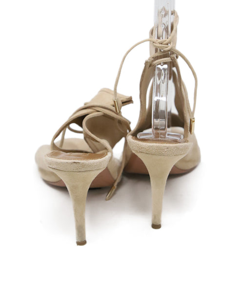 Aquazzura Tan Suede Sandals 4
