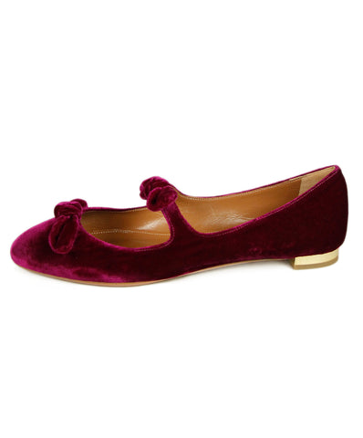 Aquazzura Violet Velvet Shoes 1