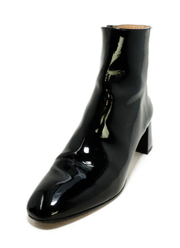 Aquazzura Black Patent Leather Booties 1