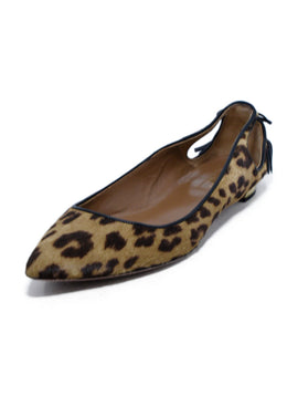 Aquazzura Brown Animal Print Pony Flats 1