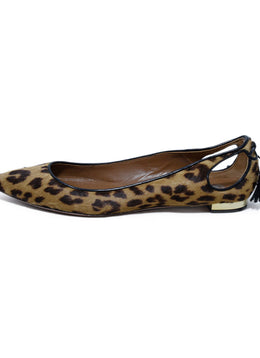Aquazzura Brown Animal Print Pony Flats 2
