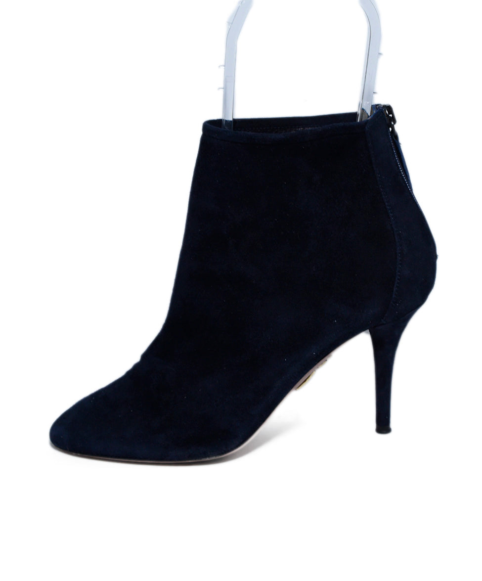Aquazzura Blue Navy Suede Booties 2